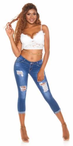 Mid-Waist Jeans  - blau