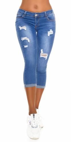 Low-Waist Jeans  - bleu