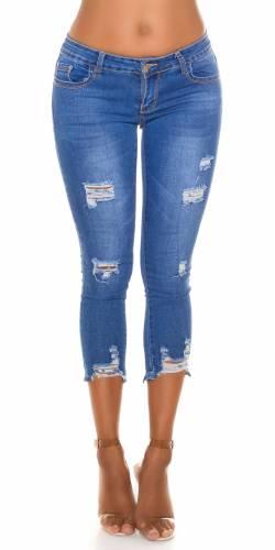 Slim Fit 7/8 Jeans  - blau