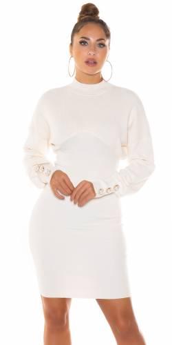 Robe tricotée Linya - beige