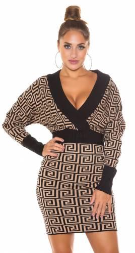 Robe tricotée Linja - cappuccino