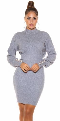 Robe tricotée Linya - gris