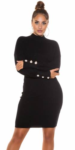 Robe tricotée Linya - noir