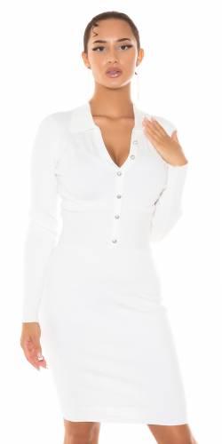Robe tricotée Liora - blanc