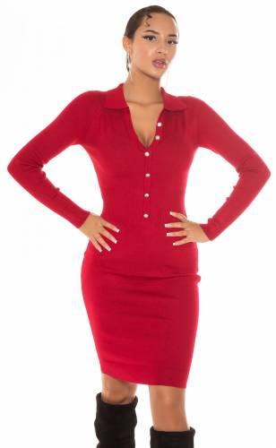 Robe tricotée Liora - rouge