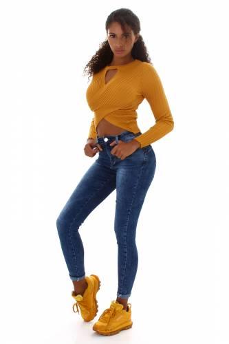 Push-Up Jeans Lyra - dunkelblau