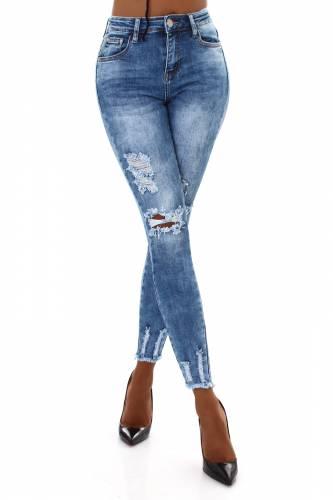 High Waist Jeans Mae - blau