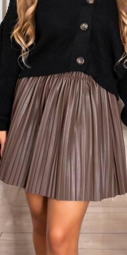 Jupe plissée - marron