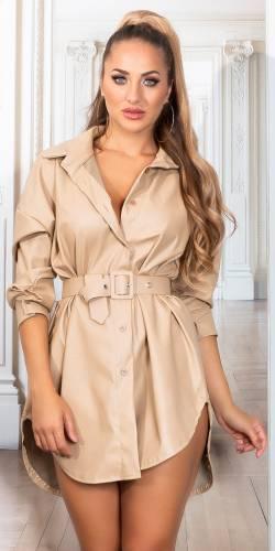 Hemd Kleid Mahira - beige