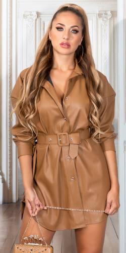 Robe chemise Mahira - cappuccino