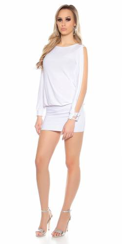 Partydress Backfree - white