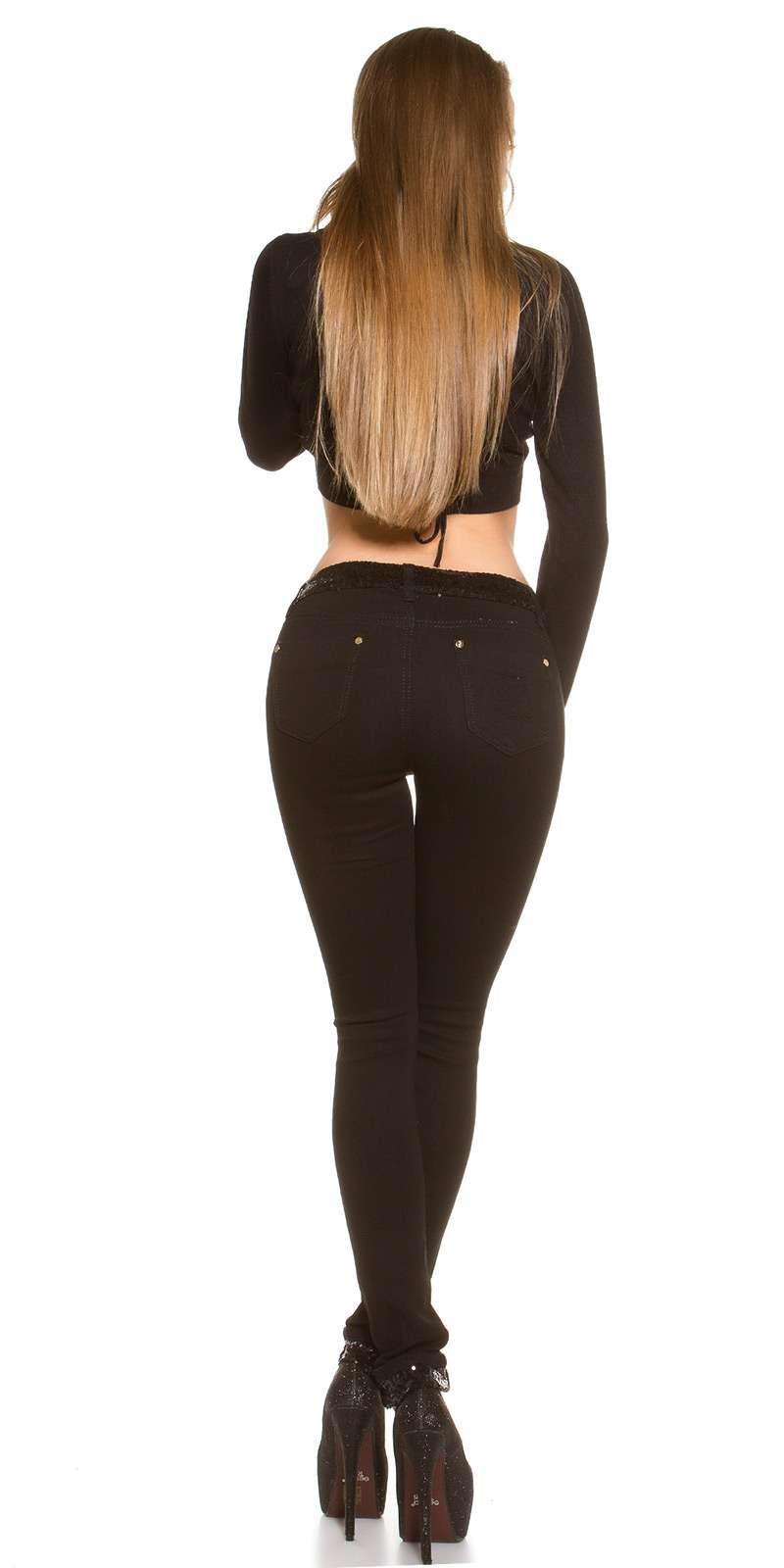 Skinny jeans pailletés KouCla