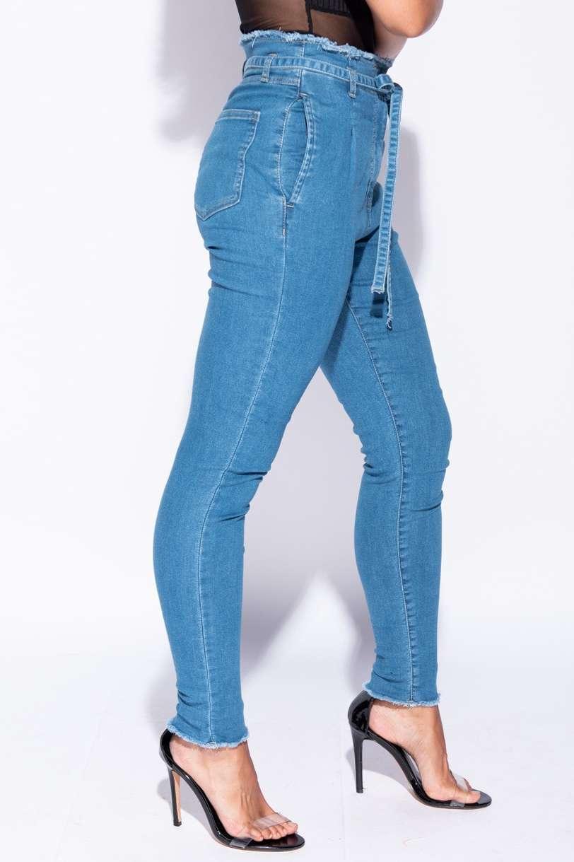 Waist Skinny Jeans