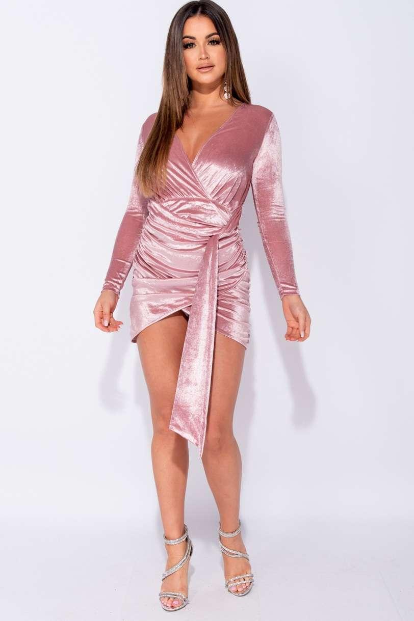 Samtwickel Kleid