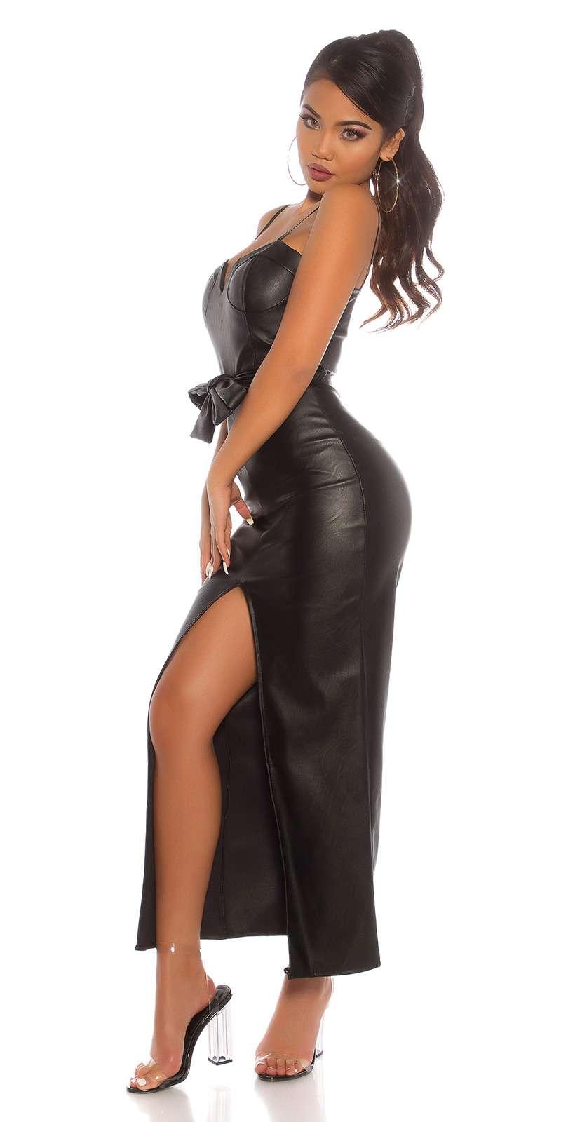 Lederlook Kleid