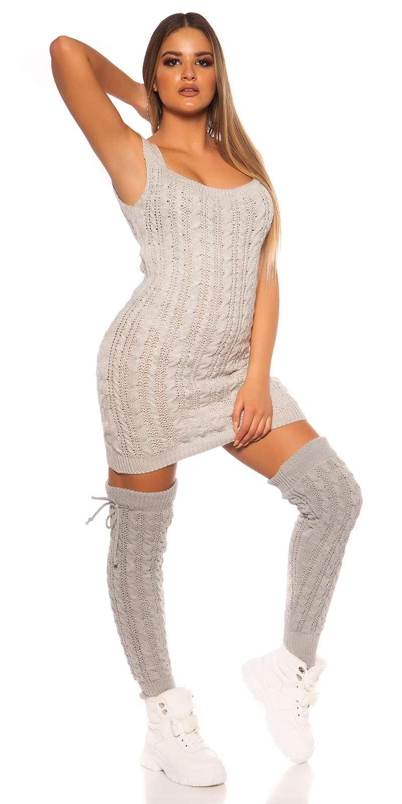 Strick Minikleid