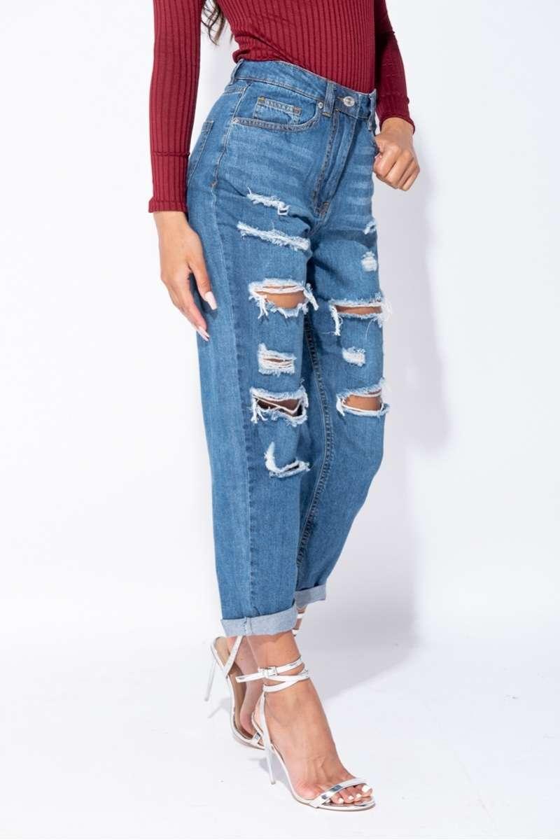 Comfort Fit Boyfriend Jeans