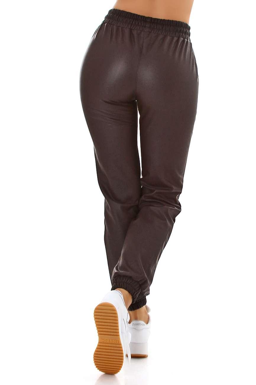 Jogger aspect cuir Rajna