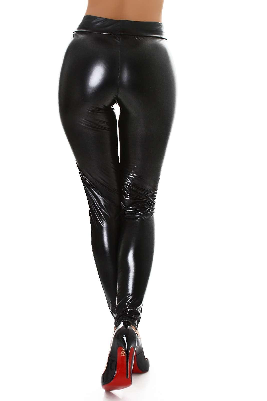 Wet-Look Leggings