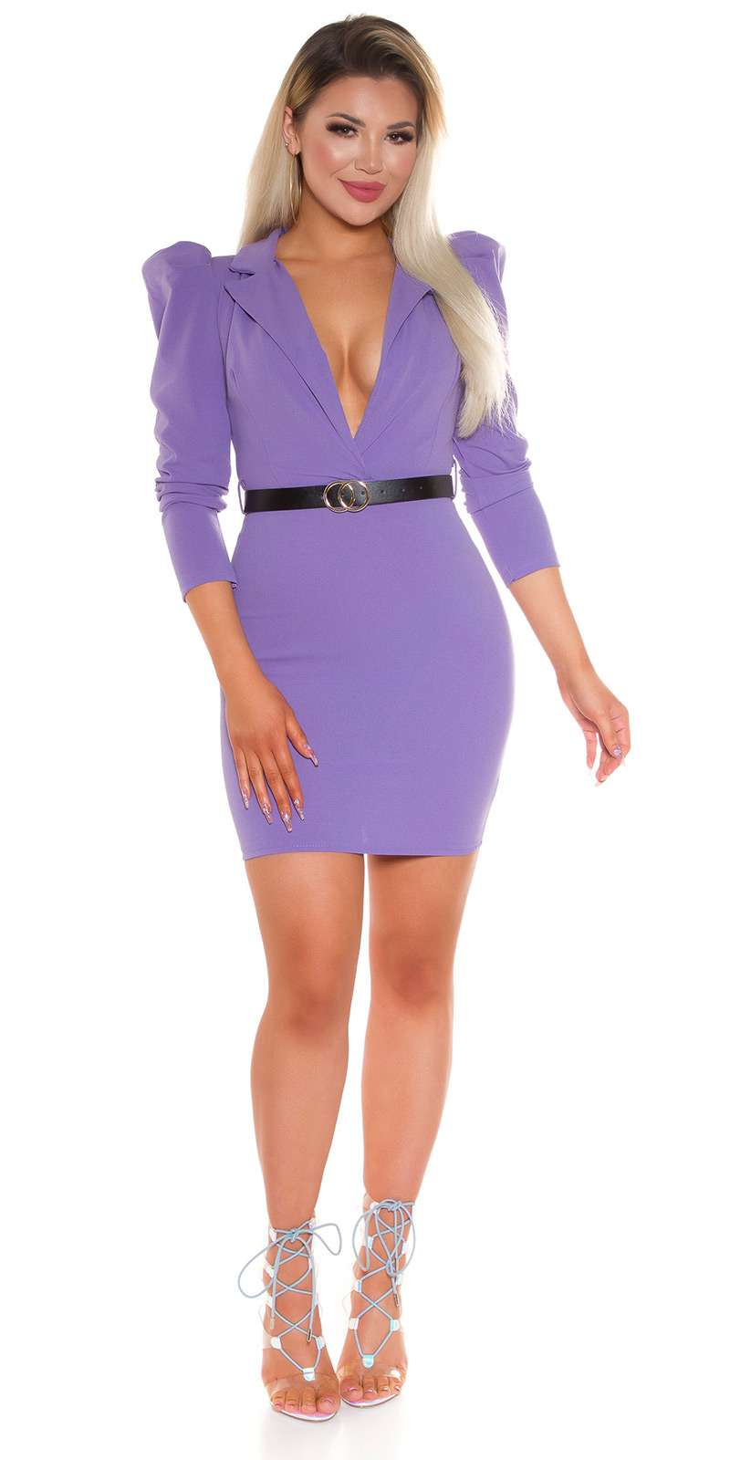 Minikleid mit Gürtel