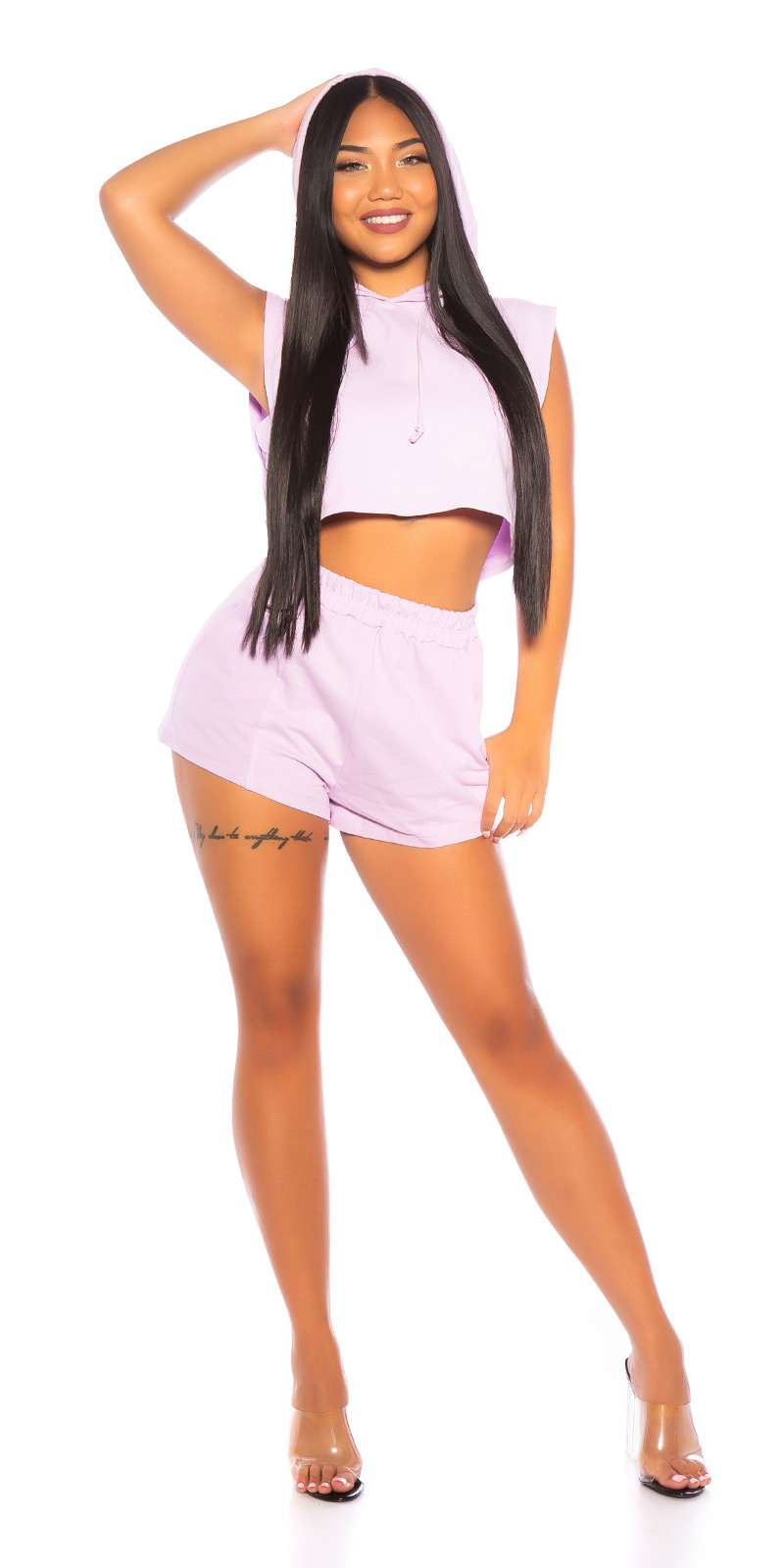 Crop Hoodie & Shorts