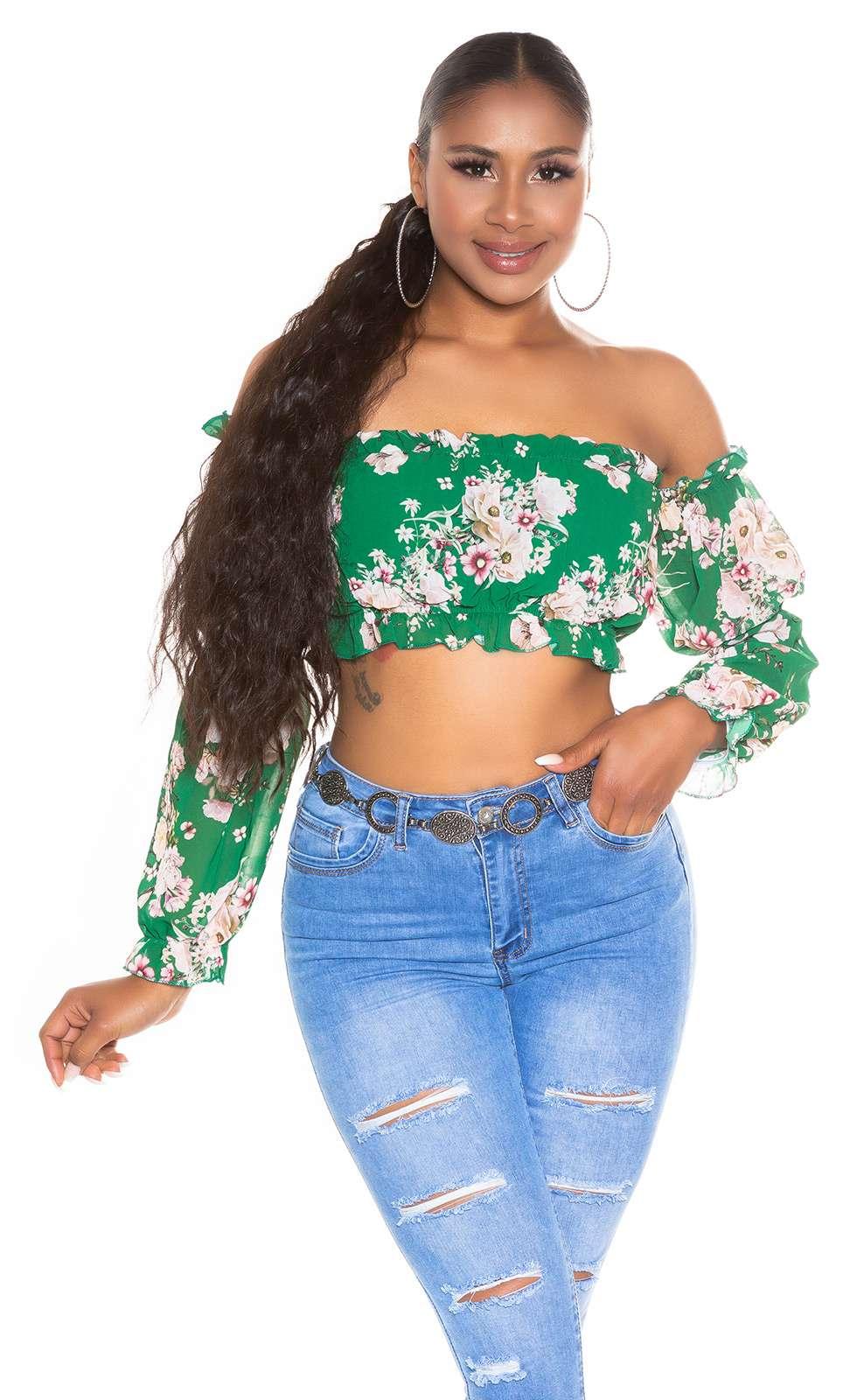 Top floral Carmen