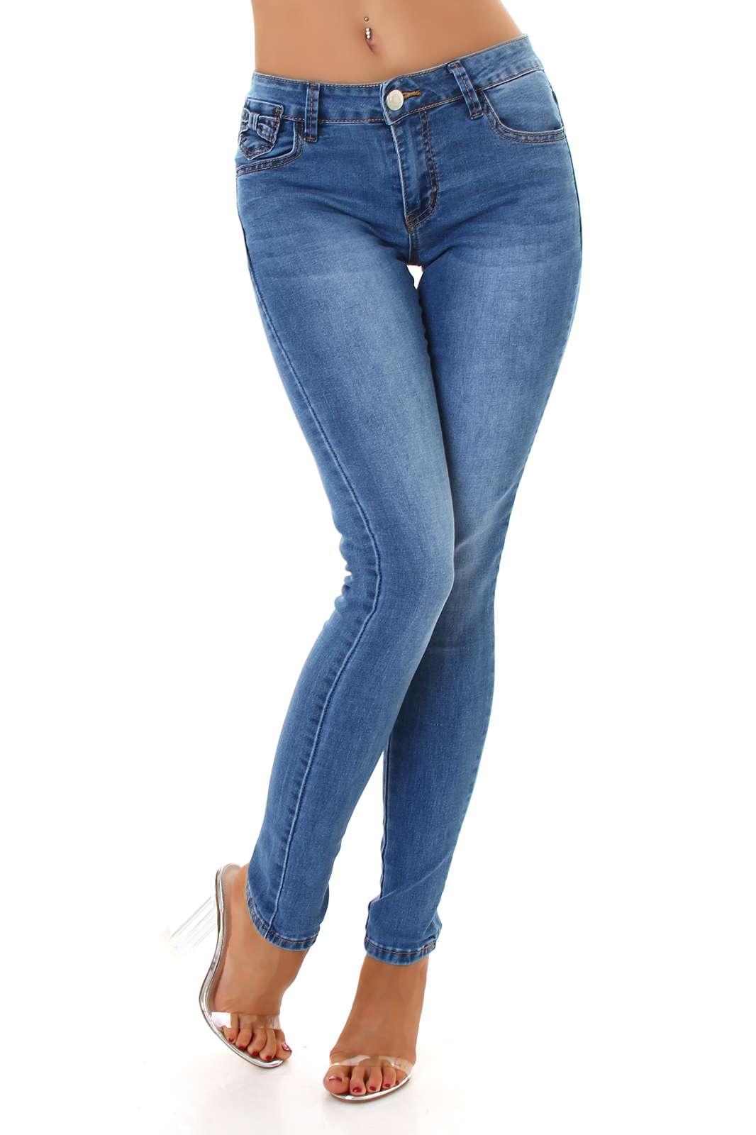 Skinny Jeans mit Schlaufe