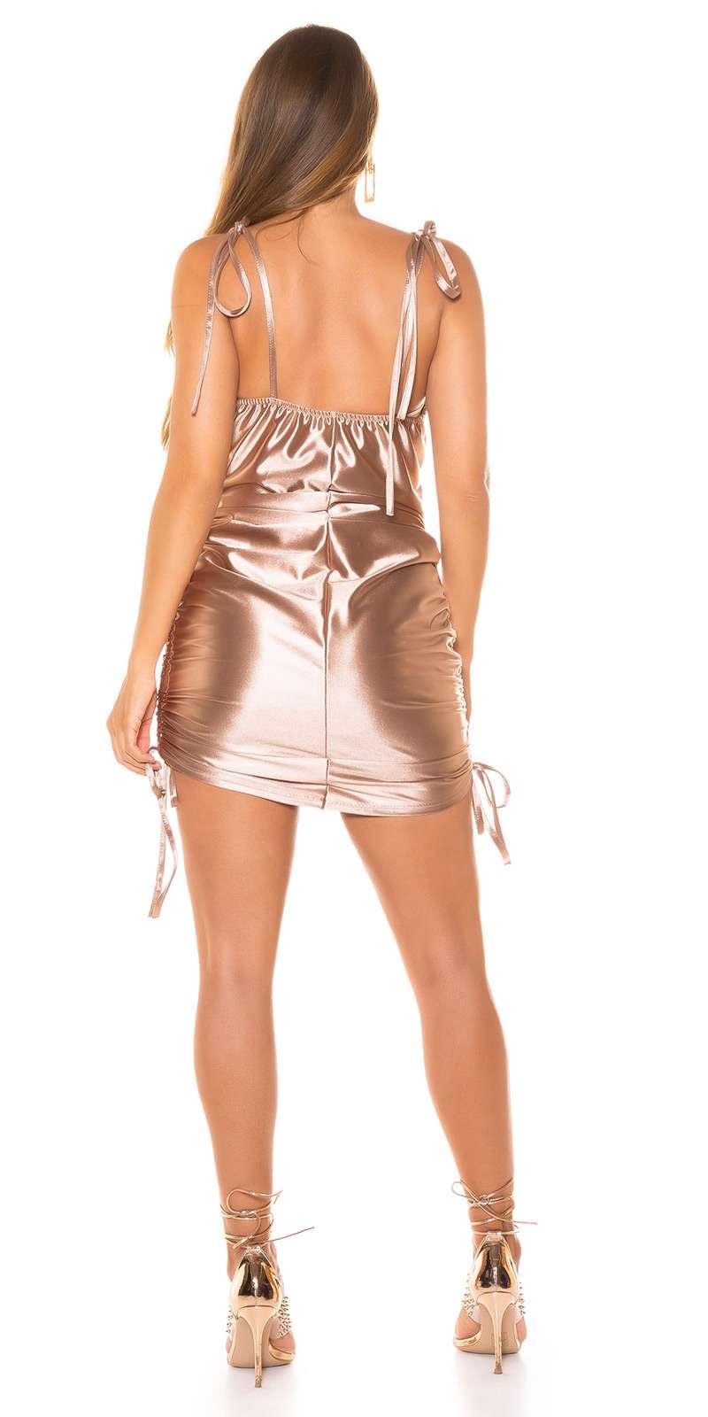 Mini robe en satin
