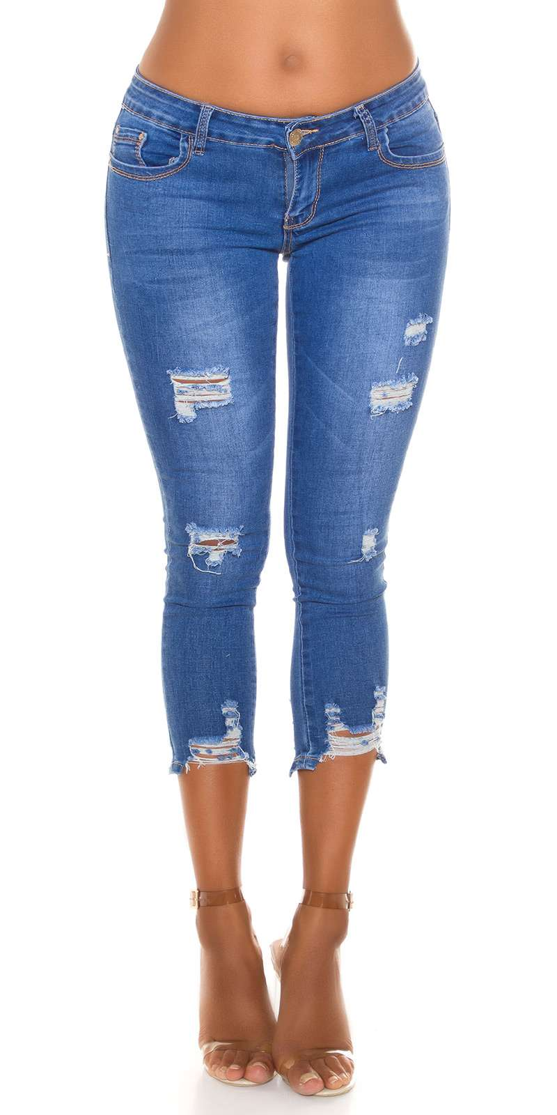Slim Fit 7/8 Jeans